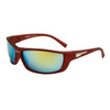 Wholesale Sport Sunglasses for Men XS7008 Red w/Yellow Flash Mirror