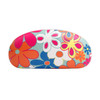Floral Print Wholesale Sunglass Hard Cases AC4001 Light Blue with Royal Blue Interior