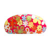 Floral Print Wholesale Sunglass Hard Cases AC4001 Magenta with Lime Green Interior