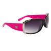 Wholesale Women's Designer Sunglasses - DE5037 Gloss Black/Hot Pink w/Silver