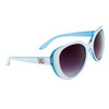 Wholesale Cat Eye Designer Sunglasses - DE5043 White/Blue