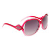 Vintage Sunglasses by the Dozen - Style #DE5057 Red/Clear