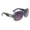 Vintage Sunglasses by the Dozen - Style #DE5026 Black/Blue