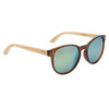 Women's Fashion Bamboo Wood Sunglasses - Style #W8003 Brown w/Revo