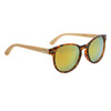 Women's Fashion Bamboo Wood Sunglasses - Style #W8003 Tortoise w/Gold Revo