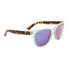 Mirrored Sunglasses by the Dozen - Style #859 Frosted Teal/Tortoise with Blue Revo