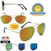Polarized Wholesale Aviators - Style #36028 Spring Hinge | Flash Lens!