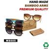 Bamboo Wood Vintage Sunglasses - Style #W8005