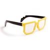 Yellow Pixelated Clear Sunglasses