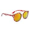 Retro Sunglasses ~ Style #6119 Animal Print w/Gold Revo