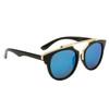 Retro Sunglasses ~ Style #6119 Black/Blue Revo