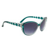 Diamond™ Eyewear Cat Eye Sunglasses with Rhinestones DI6013 Green