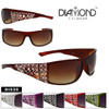 Diamond Eyewear Faux Rhinestone Sunglasses
