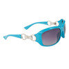 DE102 Women's Wholesale Fashion Sunglasses Blue Frame Color