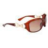 DE102 Women's Wholesale Fashion Sunglasses Brown Frame Color