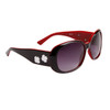 DE™ Fashion Sunglasses by the Dozen - Style #DE115 Gloss Black with Red