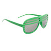 Mirrored Lens Shutter Shades 515 Lime Green Frame Color
