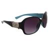 Wholesale Fashion Sunglasses | DE Designer Eyewear | Two-Tone Black & Blue Frames