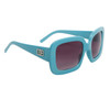 Designer Eyewear Fashion Sunglasses DE107 Light Blue Frame Color