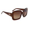 Designer Eyewear Fashion Sunglasses DE107 Brown Frame Color