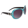 Designer Eyewear DE86 Wholesale Sunglasses Black & Transparent Blue Frame