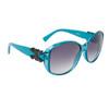 Women's Fashion Sunglasses Wholesale 21015 Transparent Blue Frame w/Black Bow