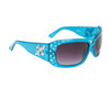 Wholesale Sunglasses Fleur de Lis & Rhinestones 20617 Transparent Blue Frame Color