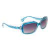 #22414 Women's Fashion Sunglasses Transparent Frame w/Blue Accents