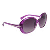 Ladies Large Frame Sunglasses 23614 Transparent Purple Frame w/Silver Accents