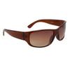24812 Wholesale Sunglasses Transparent Brown Frame Color