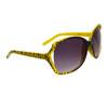 Animal Print Wholesale Sunglasses - Style # 22613 Yellow