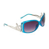 Wholesale Fashion Sunglasses Light Silver Fleur de Lis 20518 Transparent Blue Frame Color