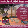 Package Deal ~ 1 Sunglass Rack & 36 Pair Assorted Sunglasses SPA3 (7077 + 36 pcs.) (Assorted Colors)
