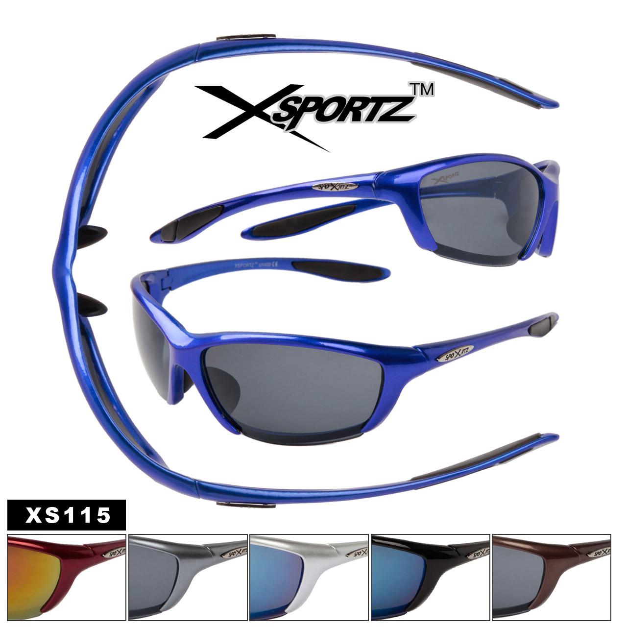 Xsportz Sports Sunglasses XS115 (Assorted Colors) (12 pcs.)