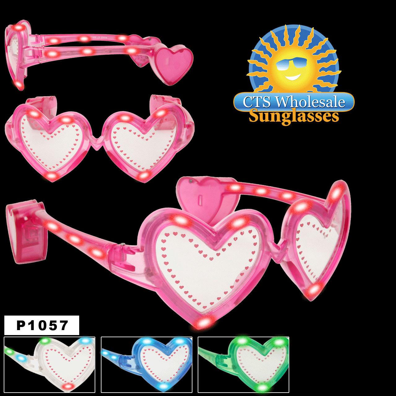 Flashing Sunglasses ~ Hearts ~ P1057