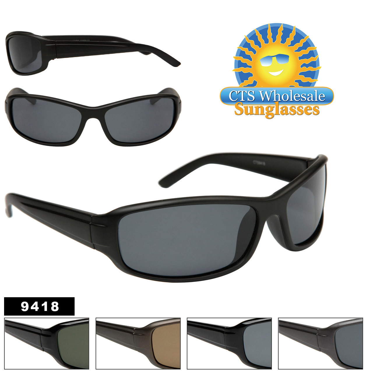 #9418 Polarized Sports Sunglasses
