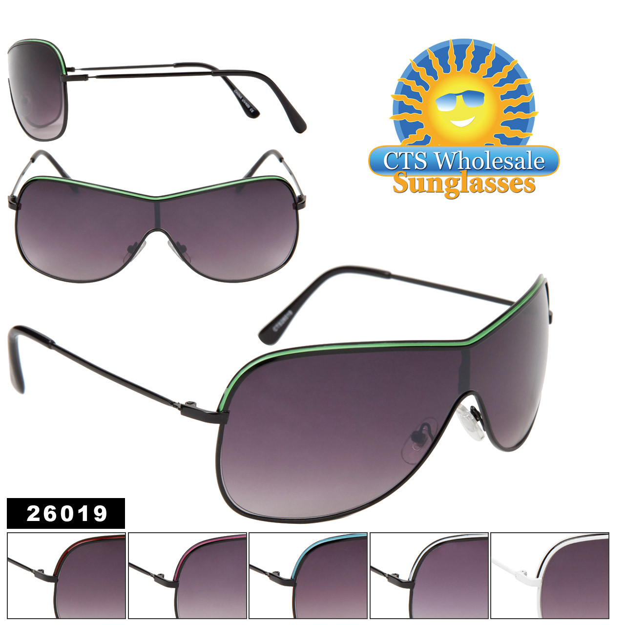 Unisex Sunglasses 26019 HOT New Stunners! (Assorted Colors) (12 pcs.)