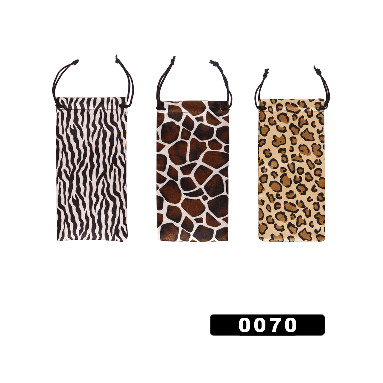Sunglass Draw String Bags 0070 (12 pcs.) Animal Print!