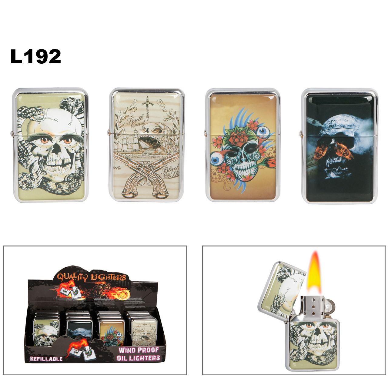 Wholesale Lighters L192 ~ Assorted Skulls