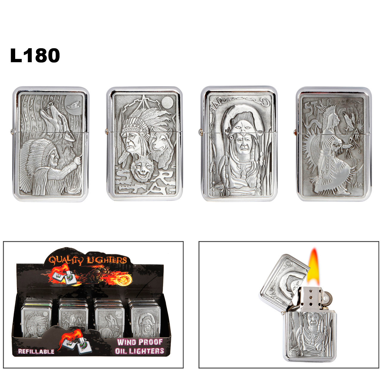 L180 American Indian Lighters