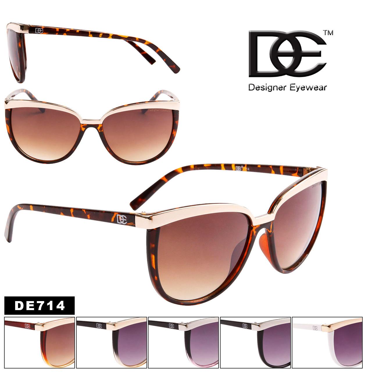 DE™ Wholesale Cat Eye Fashion Sunglasses - Style #DE714 (Assorted Colors) (12 pcs.)