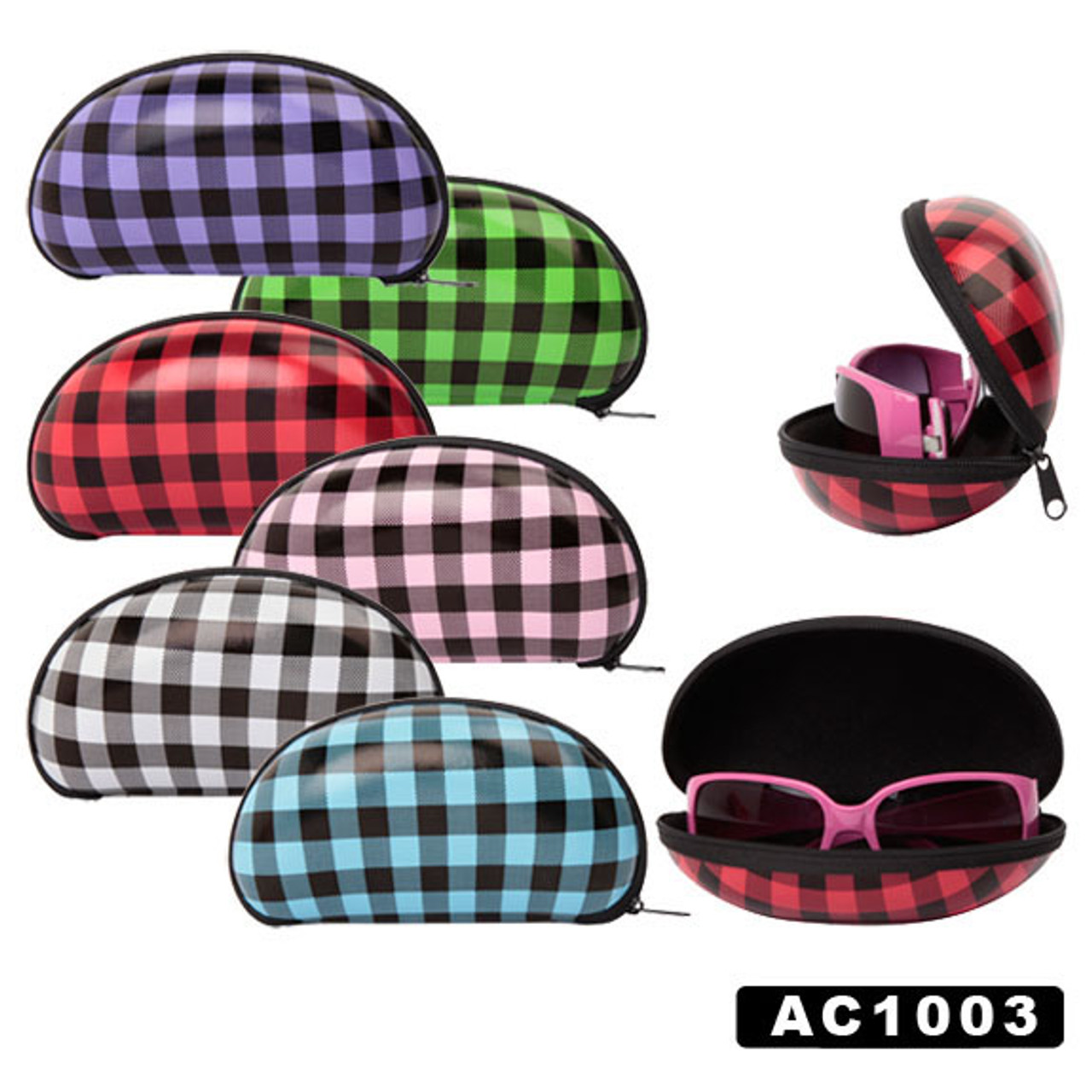 Soft Sunglass Cases Wholesale ~Plaids