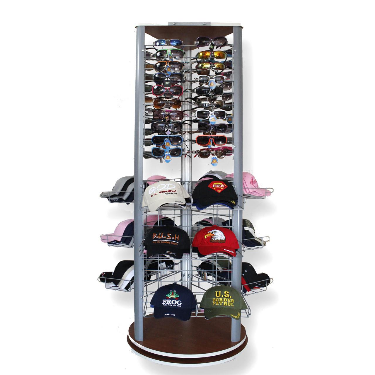 Hat & Sunglass Display D9002