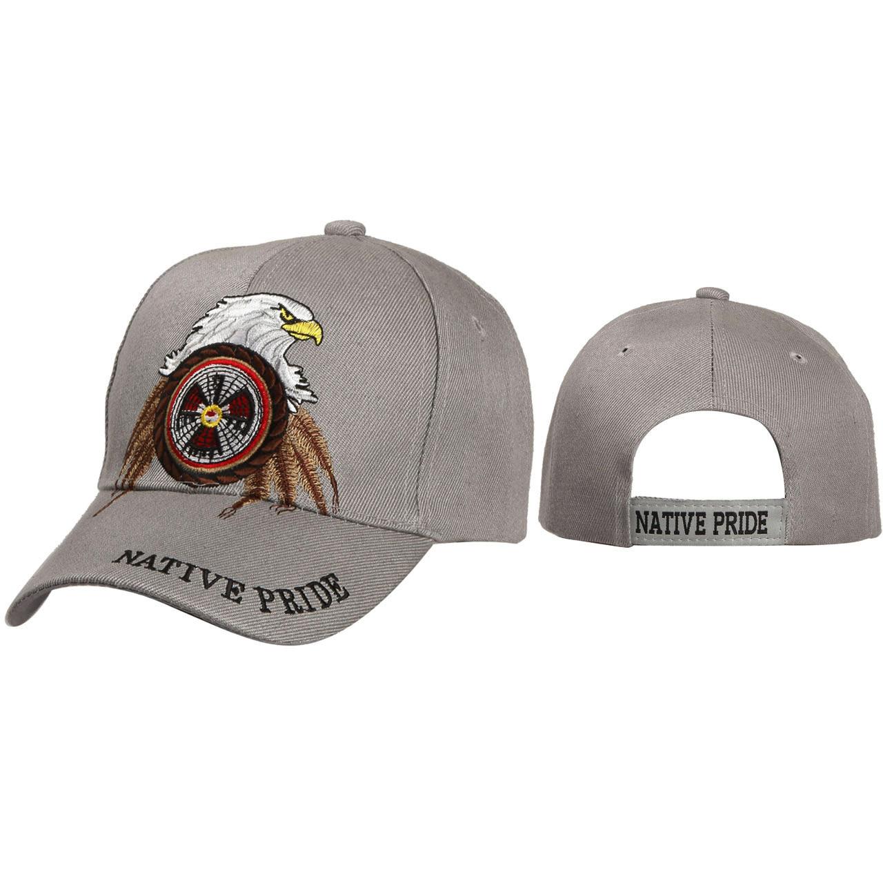 Caps Wholesale ~ Native Pride with Eagle ~ Grey