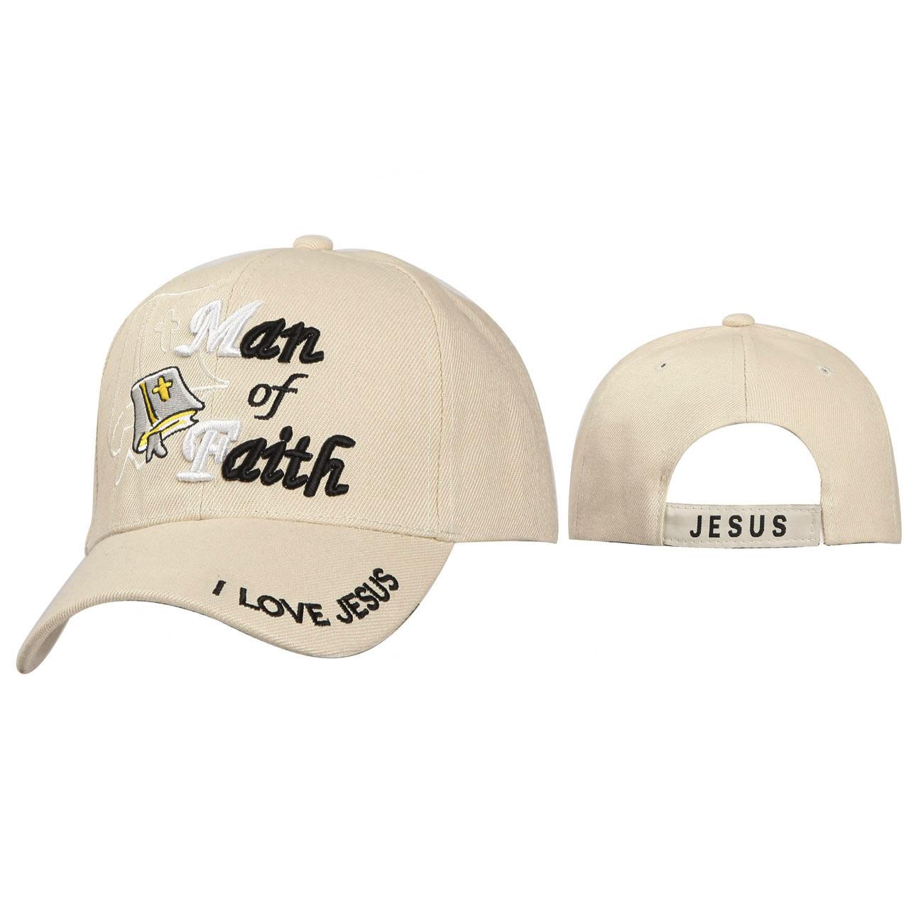 Wholesale Christian Hats ~ Man of Faith ~ Beige