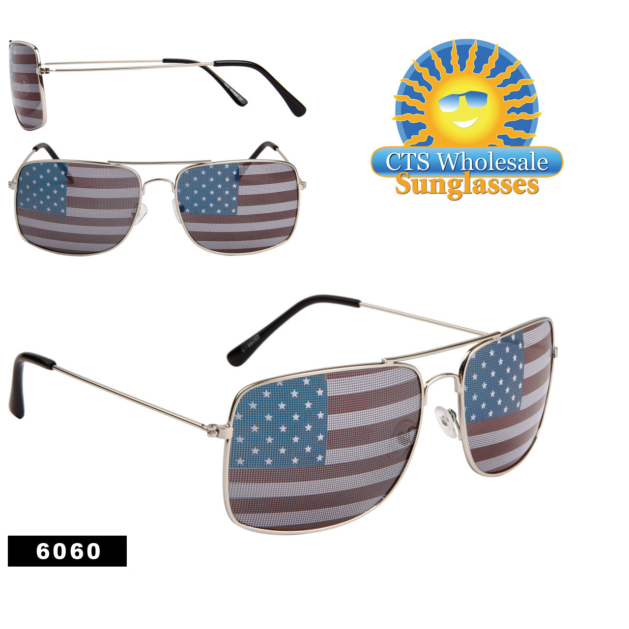 Square American Flag Aviators! 6060