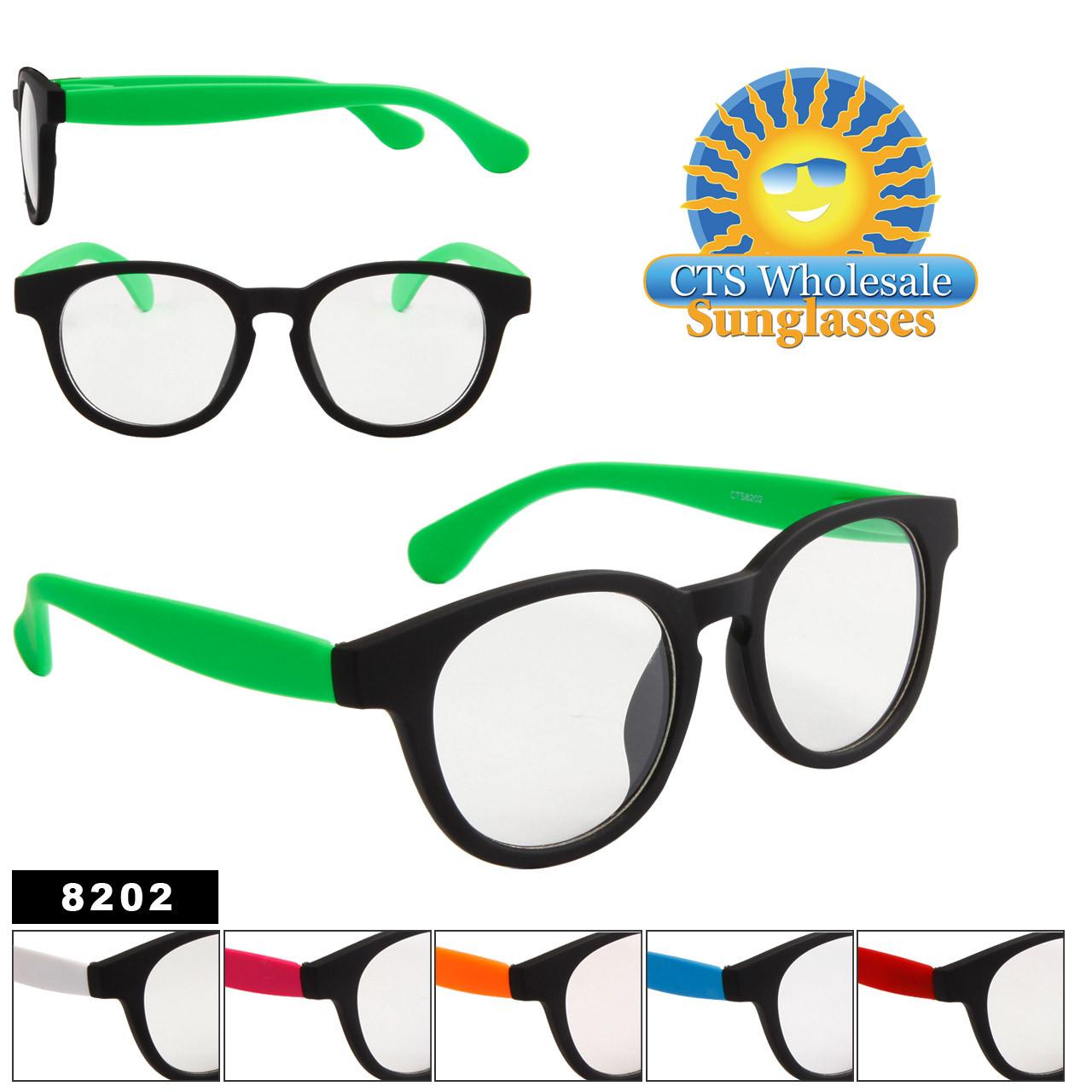 Clear Lens Sunglasses Style # 8202 (Assorted Colors) (12 pcs.)