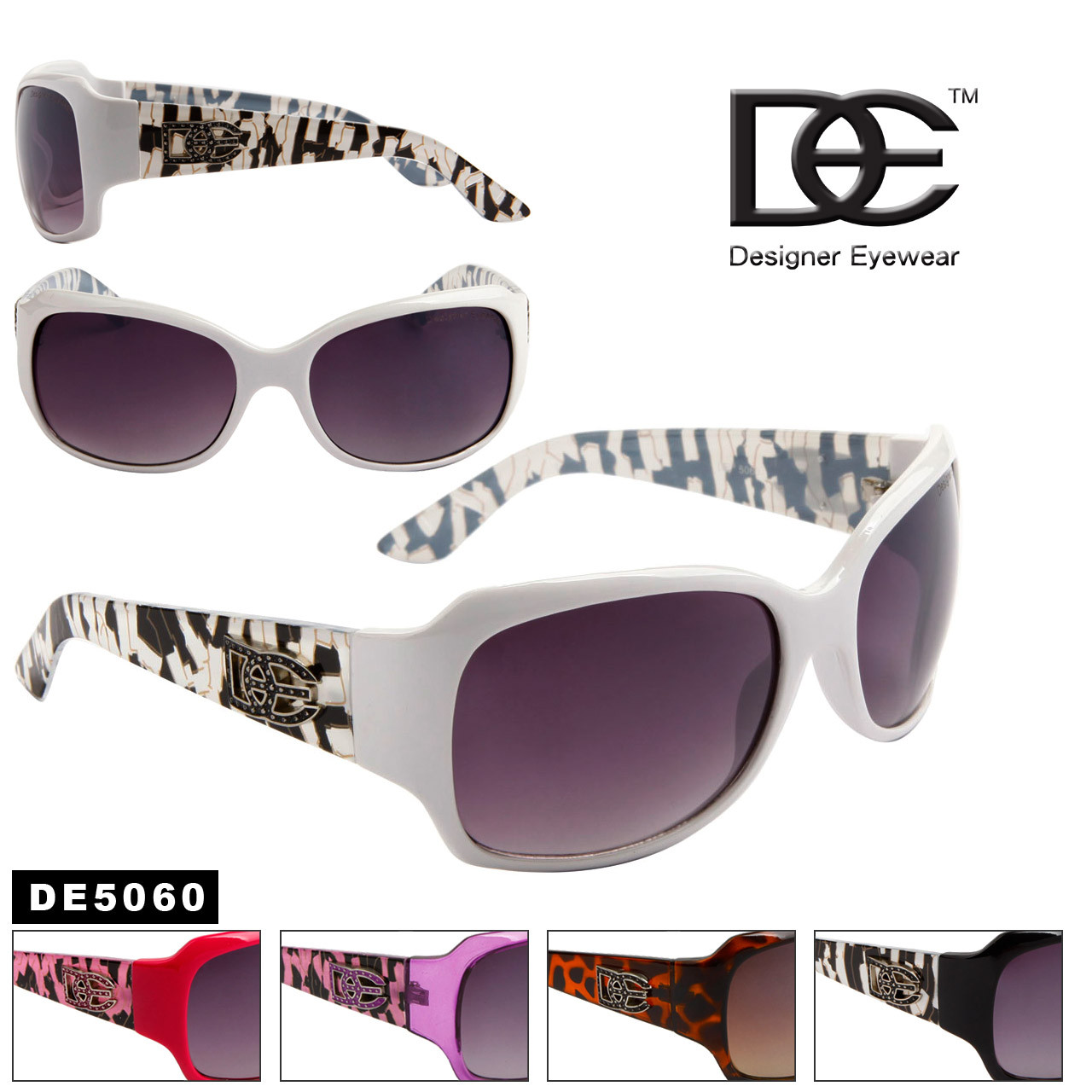 Wholesale DE™ Designer Sunglasses - Style # DE5060 (Assorted Colors) (12 pcs.)