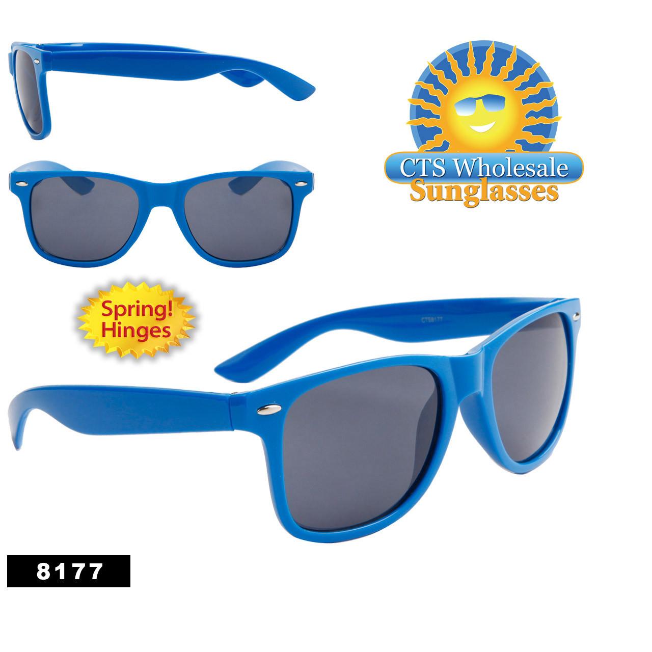 Blue California Classics Sunglasses Wholesale - Style #8177 Spring Hinge (12 pcs.)