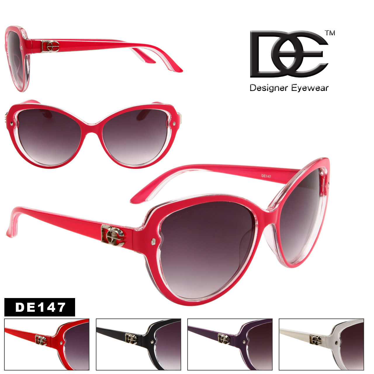 DE™ Cat Eye Fashion Sunglasses Style # DE147